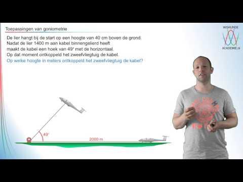 Goniometrie - toepassingen van sinus, cosinus en tangens - WiskundeAcademie