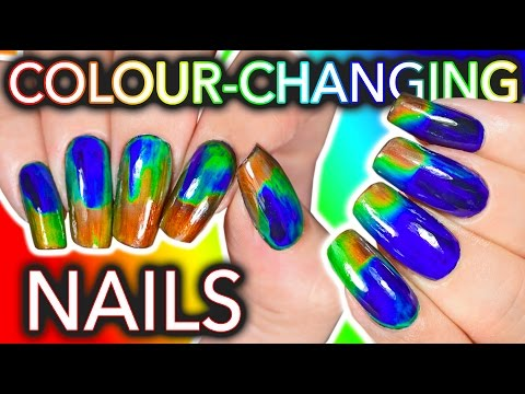 DIY Colour Changing Nails with LCD screen ingredients WILL I DIE