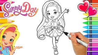 Coloring Sunny Day Hairstylist Coloring Book Page | Sunny Day Nickelodeon | Rainbow Playhouse