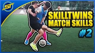 SkillTwins In Real Game Football Match Skills #2 ★ Tricks/Goals/Pannas/Shoots