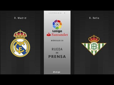 Rueda de prensa R. Madrid vs R. Betis