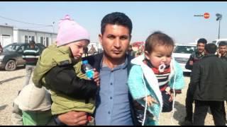 رسالة من سعد البزاز لجدة الطفلين محمد وعائشة من مخيم حسن شام بالموصل ..  #الشرقية_نيوز