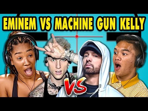 Xxx Mp4 Teens React To Eminem Machine Gun Kelly Diss Tracks 3gp Sex