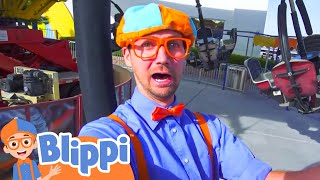 Blippi at an Amusement Park | Learning Colors at the Carnival