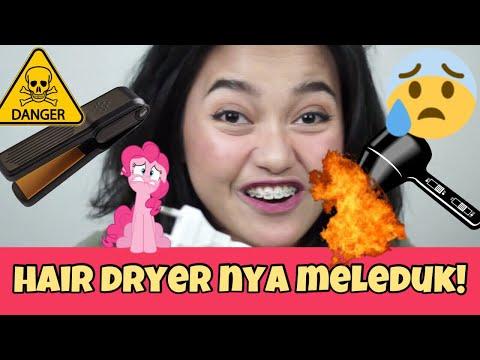 PAKE CATOKAN DAN HAIR DRYER MINI! JANGAN DIBELI BAHAYA!!!! | Indira Kalistha