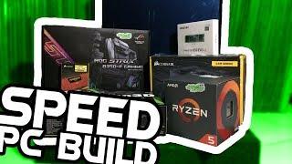#1 Speed $900 PC Build | ASUS ROG Strix B350-F Gaming & AMD Ryzen 5
