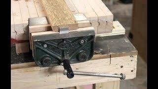 Mini Woodworking Bench & Vise Restoration || Laura Kampf Inspired