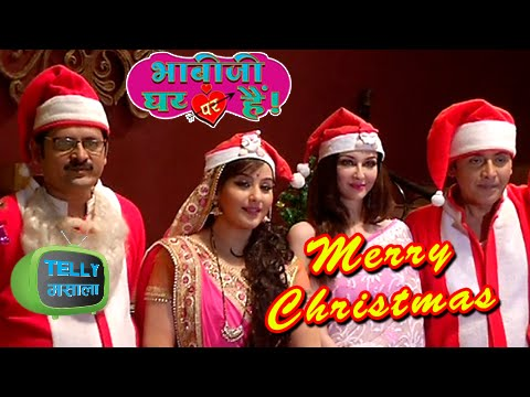 Anguri Vibhuti Manmohan and Anita Celebrate Christmas On The Sets Of Bhabhi Ji Ghar Par Hain &TV