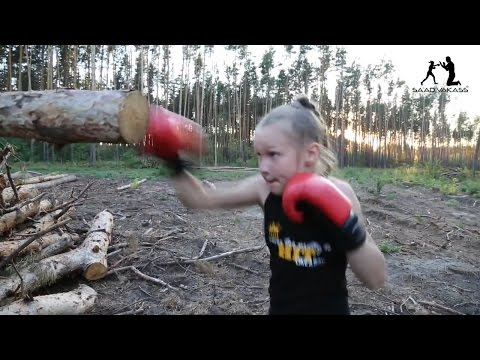 8-year-old boxing badass