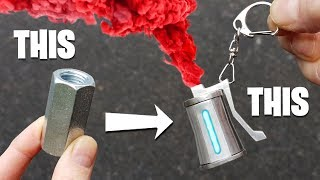 REAL FORTNITE Colored SMOKE Keyring - Made from Nut & Bolt