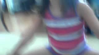 little girl does split