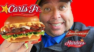 Carls Jr.  Budweiser® Beer Cheese Bacon Burger Review!