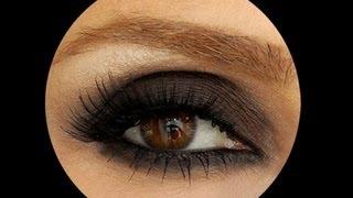 Koyu Kahve Smokey Eye Makyajı