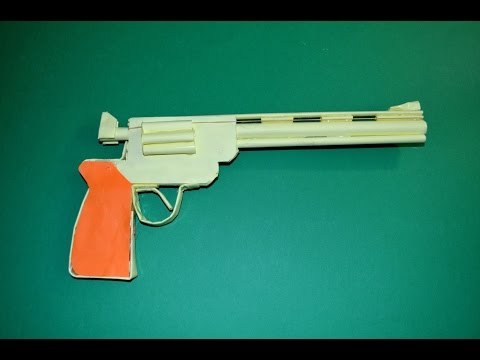 How to Make a Paper Gun that Shoots Revolver Colt Python Easy Paper Gun