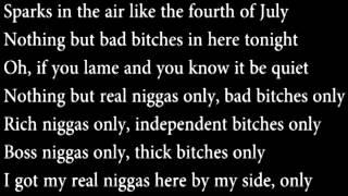 Only Nicki Minaj Ft Drake Lil Wayne Chris Brown lyrics on screen