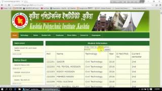 Kushtia Polytecnic Instutute Website View