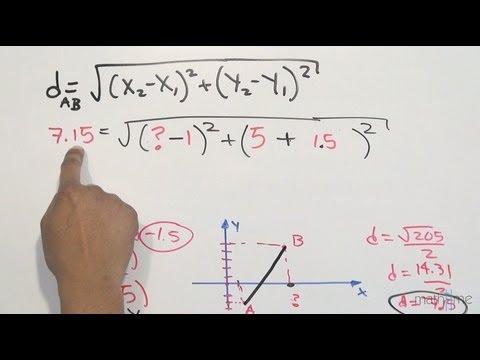 Distancia entre 2 puntos│hallar valor│parte 1