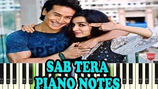 Sab Tera (Baaghi) - Piano Notes - Music Sheet