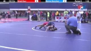 WM 51 KG Kristi Garr (OKCU) vs Marina Sanchez (King)