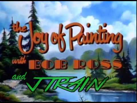 The Joy of Painting With Jtrain - ASMR Mountain Lake