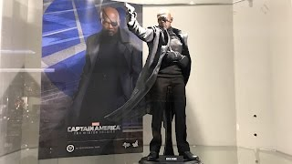 Nick Fury by Hot Toys from CA Winter Soldier on display at Secret Base HK
