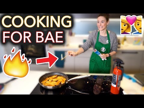 I Tried to Cook My Boyfriend His Fav Meal I set it on fire