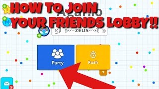 AGAR.IO// HOW TO JOIN YOUR FRIENDS SERVER!! HACK ?? GLITCH? PARTY MODE?!