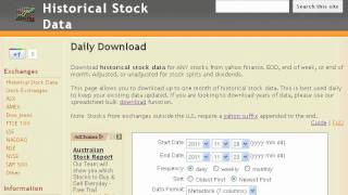 How to Download Historical Stock Data