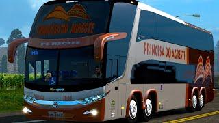 Euro Truck 2 Brasil:  ônibus dois andares / Viajando de ônibus - EAA Bus