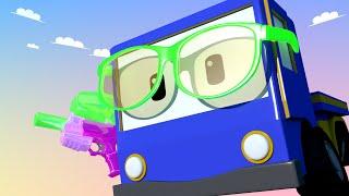 Tiny Trucks - The Battleground! - Kids Animation with Street Vehicles Bulldozer, Excavator & Crane