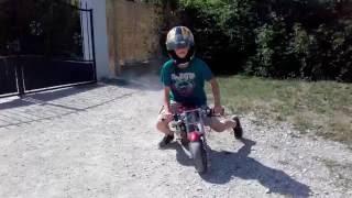 Presentation et test de ma pocket bike