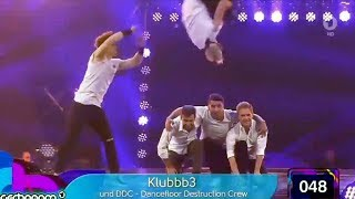 DDC & Klubbb3 - Dschinghis Khan - Schlagerbooom 2016| DDC Breakdance