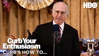 How to Give a Proper Bar Mitzvah Toast w/ Larry David | Curb Your Enthusiasm (2017) | HBO