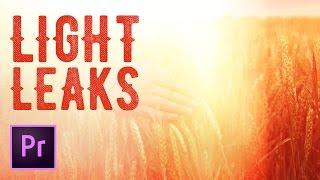 How to Create a Light Leak Transition in Premiere Pro - 4k Light Leaks