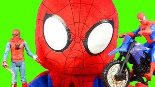 Huge Humongous Web Slinging Spider-man Homecoming Toy Collection POP Heroes Vulture Electro Attack