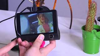 "KKMOON 4"" 1080P Three Lens Car DVR Dash Cam Camera Camcorder Night Vision"