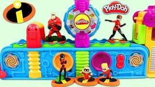 Disney Pixar The Incredibles Characters Visit Magic Play Doh Mega Fun Factory Playset!