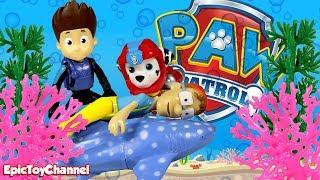 Paw Patrol Nickelodeon Sea Patrol Rescue Captain Turbot at Paw Patrol Jungle Rescue & Sea Patroller