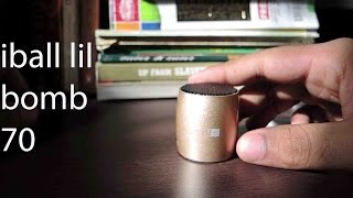 iball lil bomb 70 portable wireless bluetooth speaker + how to connect