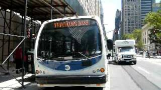 Designline CitiBus training bus on 42nd Street