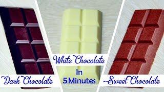5 Minutes Dark Sweet White Chocolates Homemade Chocolate Recipe – Easy Chocolate Tutorial