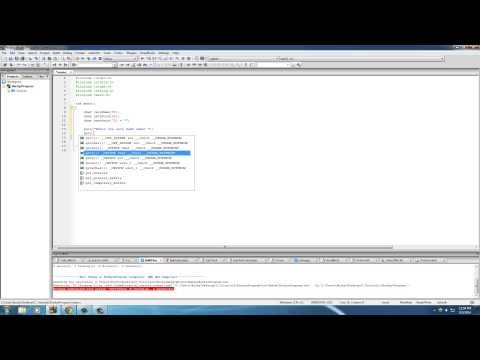 C Programming Tutorial - 35 - puts and gets