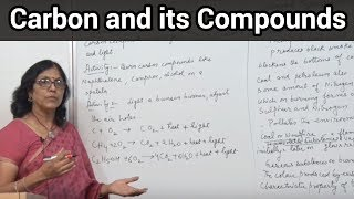 Carbon and its compounds (Chemical properties of carbon compound)