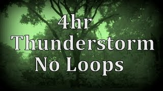 4hr Thunderstorm with No Loops