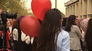 اجمل رمي لقبعات التخرج في جامعة بغداد #عبد_الرحمن_اياد