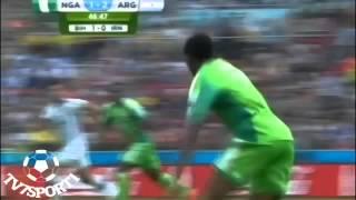 اهداف مباراة الارجنتين 3 2 نيجيريا كاس العالم  تعليق رؤوف خليف HD