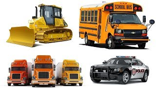 Learn Street Vehicles for Kids with Cars and Trucks | Construction Trucks for Children | Bulldozer