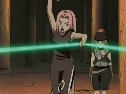 Naruto and Sakura vs. Fuuma Clan Jonin Kabuto Look A Like