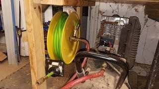 replacing hose on Harbor Freight reel