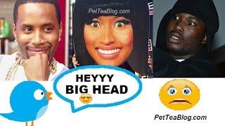 """Safaree Trolling Nicki Minaj after her Meek Mill break up """"HEY BIG HEAD!"""" 😆🐤👫😲"""